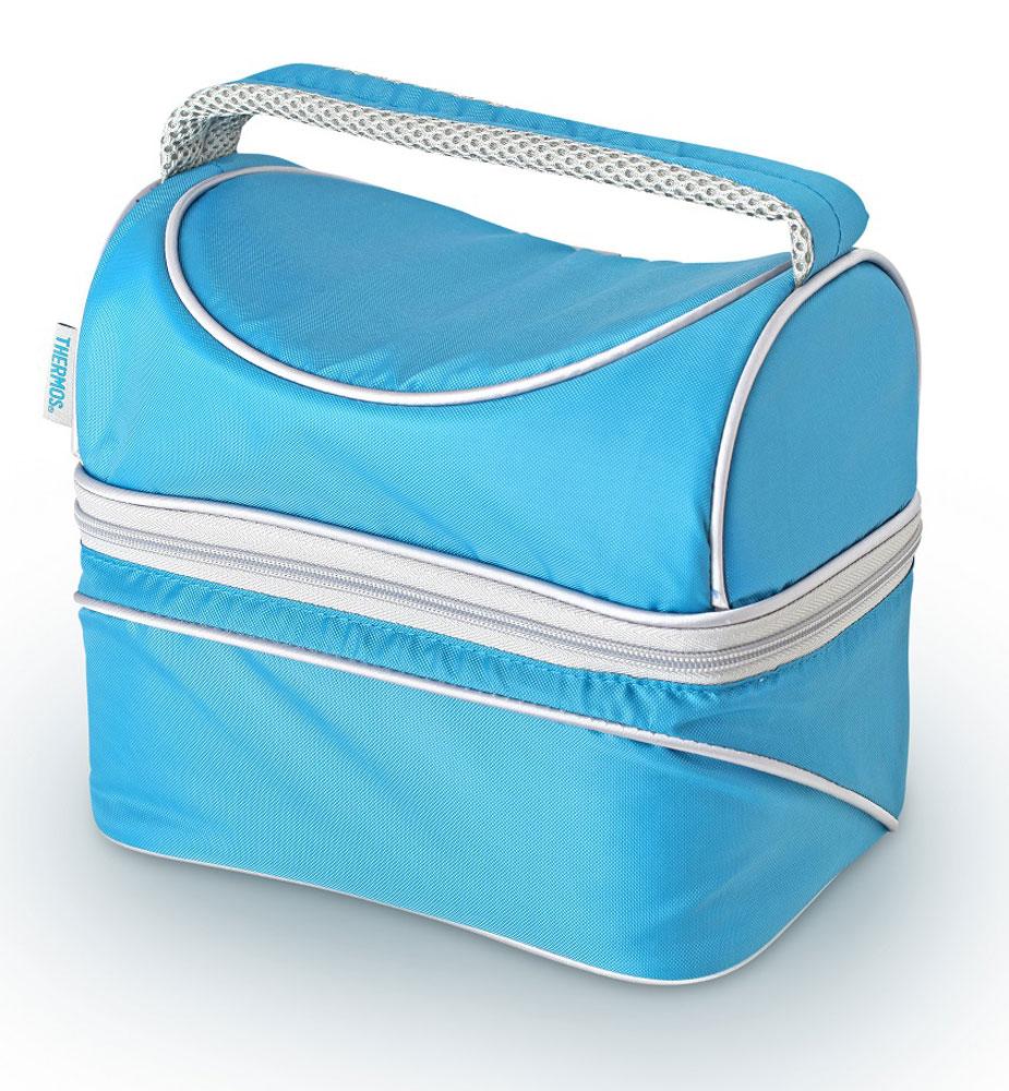 Термосумка Thermos Poptop Dual, цвет: голубой, 6,5 л469458Способна вместить довольно большой объем кремов , мазей, медикаментов и других препаратов не предназначенных для хранения в тепле. По желанию, для усиления охлаждающего эффекта возможно применение замороженных аккумуляторов температуры THERMOS Gel Pack™.