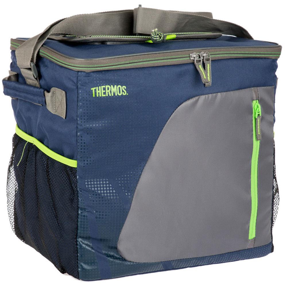 Термосумка Thermos Radiance 36 Can Cooler, цвет: синий, серый, 26 л488855Термо-сумки отличается легкостью и компактностью. Все сумки складываются и фиксируются в сложенном положении что облегчает хранение. Внутреннее наполнение стенок позволяет сохранять продукты замороженными, свежими или теплыми длительное время. Внутренняя поверхность PEVA обладает 100% герметичностью. При перевозке жидкостей это позволяет избежать протеканий.