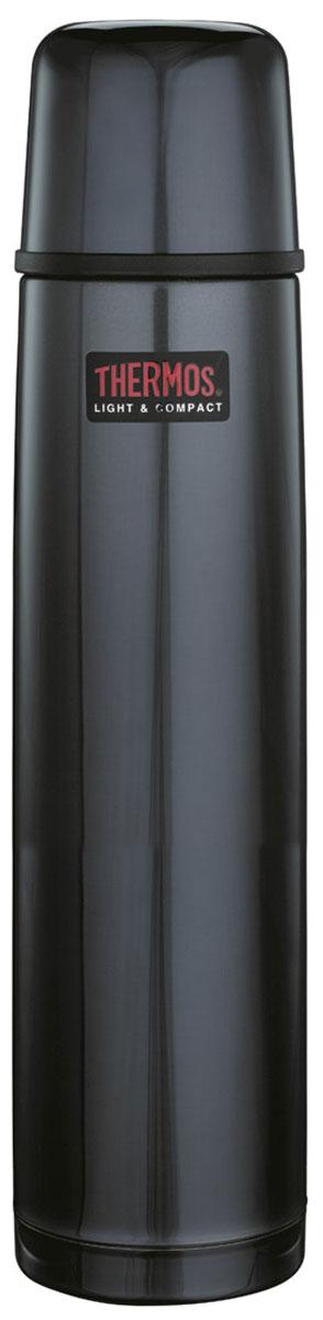 Термос Thermos, цвет: темно-синий, 1 л. 1000BC853288Термосы из нержавеющей стали «FBB— «визитная карточка» компании THERMOS®. Эту модель предпочитают приверженцы высоких технологий, всего самого совершенного. Небьющиеся стенки термоса из нержавеющей пружинной стали 18/8 способны противостоять внешним повреждениям и вмятинам. Удобная пробка клапанного типа, открывающаяся одним нажатием, легко разбирается для чистки. Чашка–крышка из нержавеющей стали позволит Вам наслаждаться своим напитком, где бы Вы ни были. Этот термос — легкий и компактный, удобен в транспортировке и хранении.