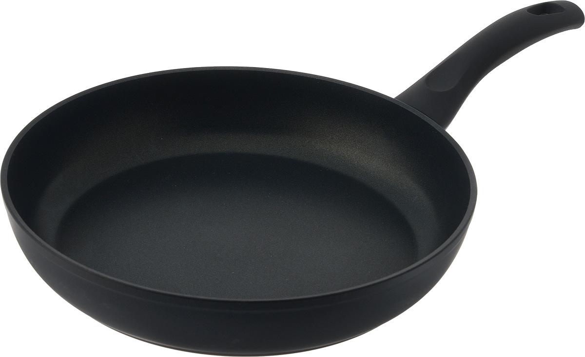 Сковорода Ballarini Rialto, с антипригарным покрытием. Диаметр 28 см930L40.28Сковорода Ballarini Rialto изготовлена из кованого алюминия c антипригарным покрытием. Покрытие предотвращает пригорание и прилипание пищи к поверхности сковороды, что позволяет готовить быстро и вкусно. Покрытие абсолютно экологично и безопасно для здоровья, так как не содержит PFOA, тяжелых металлов и никеля. Прочный корпус посуды обеспечивает эффективную тепловую обработку, быстро разогревается и равномерно распределяет тепло по всей поверхности. Сковорода снабжена индикатором нагрева Thermopoint, который подскажет, когда посуда нагрелась до оптимальной температуры. Цвет данного устройства меняется по мере изменения температуры посуды. Сковорода разогревается, и Thermopoint начинает менять цвет - с зеленого на красный. Если Thermopoint красного цвета, то сковорода достигла температуры, при которой можно начинать готовить. Теперь можно убавить огонь во избежание ненужного перегрева и для оптимизации готовки. Сняв посуды с источника тепла, цвет Thermopoint снова начинает...