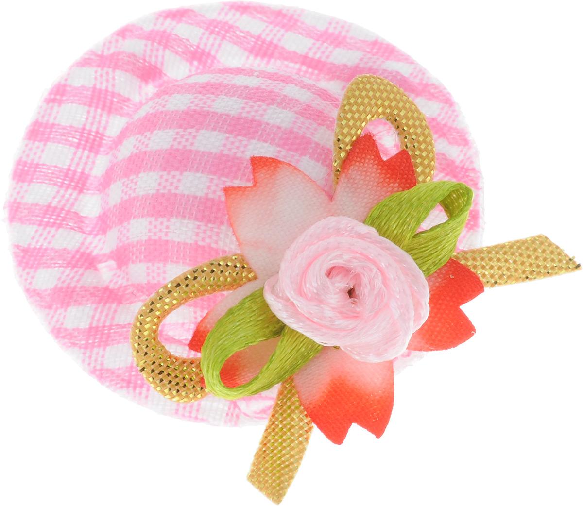 Заколка-шляпка для собак VIPet Ностальжи, цвет: розовый, диаметр 3,5 см18106Заколка-шляпка VIPet Ностальжи - это красивое и стильное украшение для собак. Заколка прекрасно крепится на волосах и позволяет фиксировать шерсть. Выполнена из стали, пластика и тканей различных структур, плотностей и фактур.