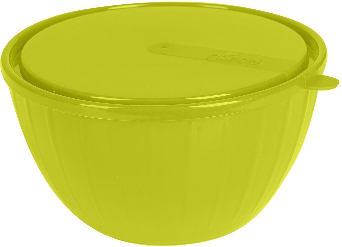 Салатник Giaretti Fiesta, с крышкой, цвет: оливковый, 1,7 лGR1866ОЛПластиковый салатник предназначен не только для подачи, но и для хранения салатов. Удобная крышка помогает сохранять свежесть продуктов, а сам салатник достаточно легок для транспортировки! Он создан из абсолютно безопасных пищевых материалов, так что вы можете не волноваться о сохранении качества продуктов. Для большего удобства советуем приобретать салатники Fiesta объемом 2,8 литра и 5 литров.