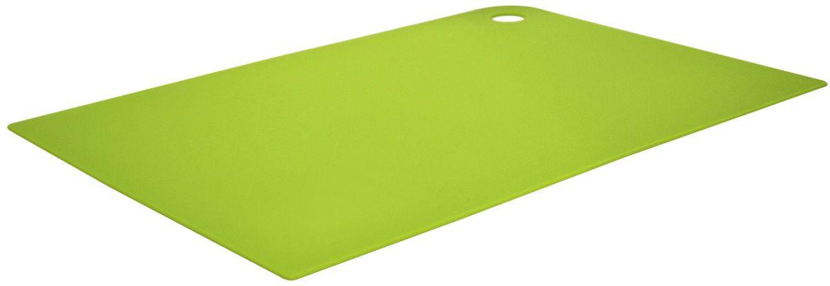 Доска разделочная Giaretti Elastico, цвет: оливковый, 35 х 25 см. GR1883ОЛGR1883ОЛМаленькие и большие, под хлеб или сыр, овощи или мясо. Разделочных досок много не бывает. Giaretti предлагает новинку – гибкие доски. Преимущества: не скользит по поверхности стола - Вы можете резать продукты и не отвлекаться на мелочи; удобно использовать - на гибкой доске Вы сможете порезать продукты, согнув доску переложить их в блюдо и не рассыпать содержимое; легкие доски займут мало места на Вашей кухне; легко моются в посудомоечной машине; 2 оптимальных размера досок позволят Вам порезать небольшой кусок сыра или нашинковать много овощей. Вы можете купить доску как штучно, так и в наборе, и максимально эффективно организовать пространство на кухне.