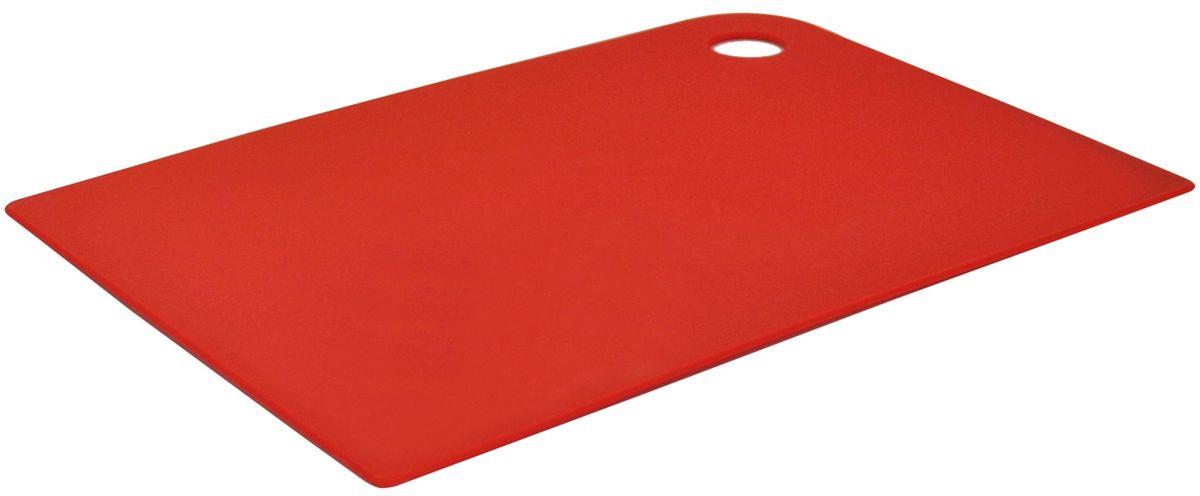 Доска разделочная Giaretti Elastico, цвет: красный, 35 х 25 см. GR1883ЧЕРИGR1883ЧЕРИМаленькие и большие, под хлеб или сыр, овощи или мясо. Разделочных досок много не бывает. Giaretti предлагает новинку – гибкие доски. Преимущества: не скользит по поверхности стола - Вы можете резать продукты и не отвлекаться на мелочи; удобно использовать - на гибкой доске Вы сможете порезать продукты, согнув доску переложить их в блюдо и не рассыпать содержимое; легкие доски займут мало места на Вашей кухне; легко моются в посудомоечной машине; 2 оптимальных размера досок позволят Вам порезать небольшой кусок сыра или нашинковать много овощей. Вы можете купить доску как штучно, так и в наборе, и максимально эффективно организовать пространство на кухне.