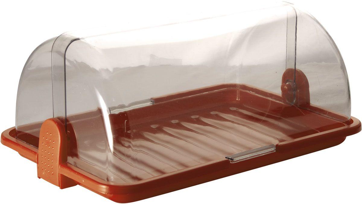 Хлебница Plastic Centre, цвет: коричневый, прозрачный, 38,5 х 26 х 16,5 смПЦ1670КЧНаша хлебница сохранит хлеб свежим длительное время. Оптимальный размер хлебницы подойдет для любой кухни.