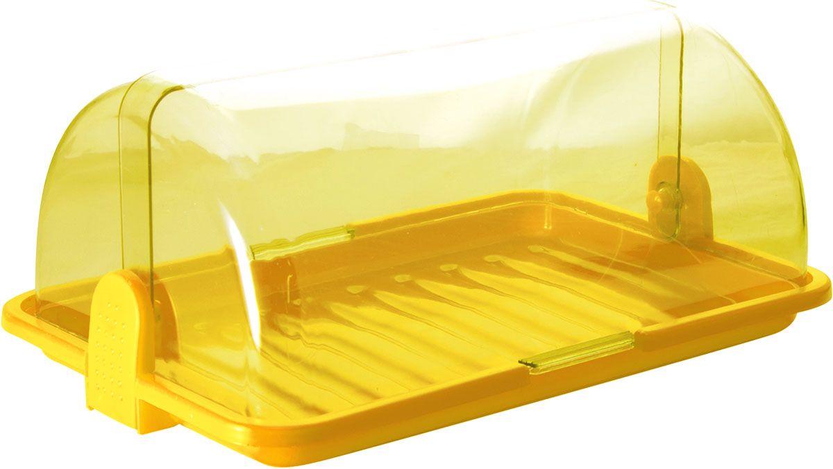 Хлебница Plastic Centre, цвет: желтый, прозрачный, 38,5 х 26 х 16,5 смПЦ1670ЛМННаша хлебница сохранит хлеб свежим длительное время. Оптимальный размер хлебницы подойдет для любой кухни.