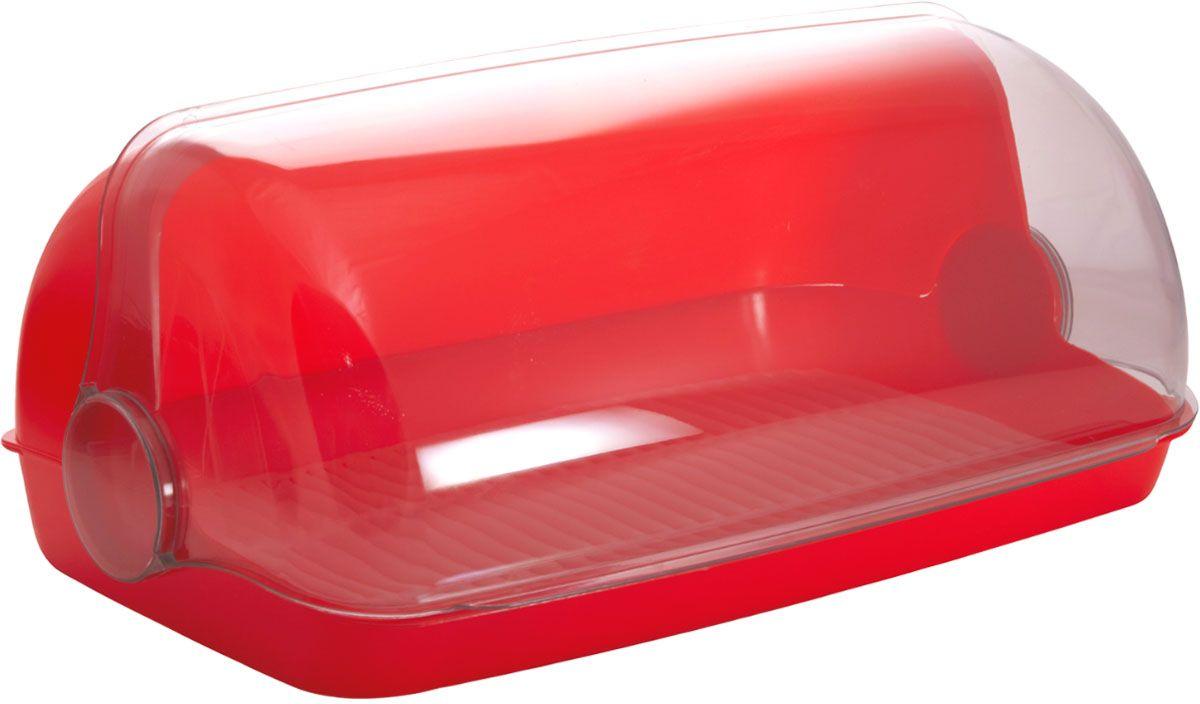 Хлебница Plastic Centre Пышка, цвет: красный, прозрачный, 32,5 х 22 х 17 смПЦ1672КРУниверсальная форма хлебниц Пышка подойдет для любой кухни. Решетка внутри хлебницы поможет сохранить хлеб свежим долгое время.