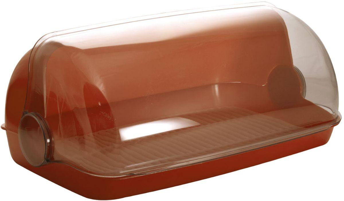 Хлебница Plastic Centre Пышка, цвет: коричневый, прозрачный, 32,5 х 22 х 17 смПЦ1672КЧУниверсальная форма хлебниц Пышка подойдет для любой кухни. Решетка внутри хлебницы поможет сохранить хлеб свежим долгое время.