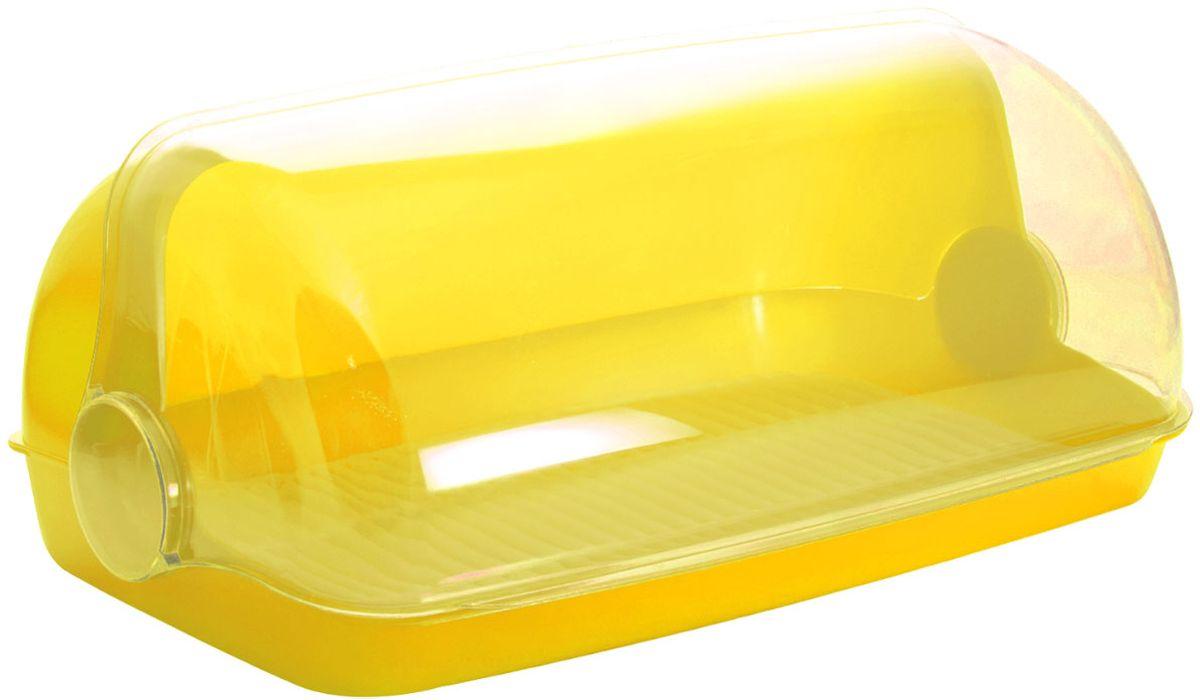 Хлебница Plastic Centre Пышка, цвет: желтый, прозрачный, 32,5 х 22 х 17 смПЦ1672ЛМНУниверсальная форма хлебниц Пышка подойдет для любой кухни. Решетка внутри хлебницы поможет сохранить хлеб свежим долгое время.