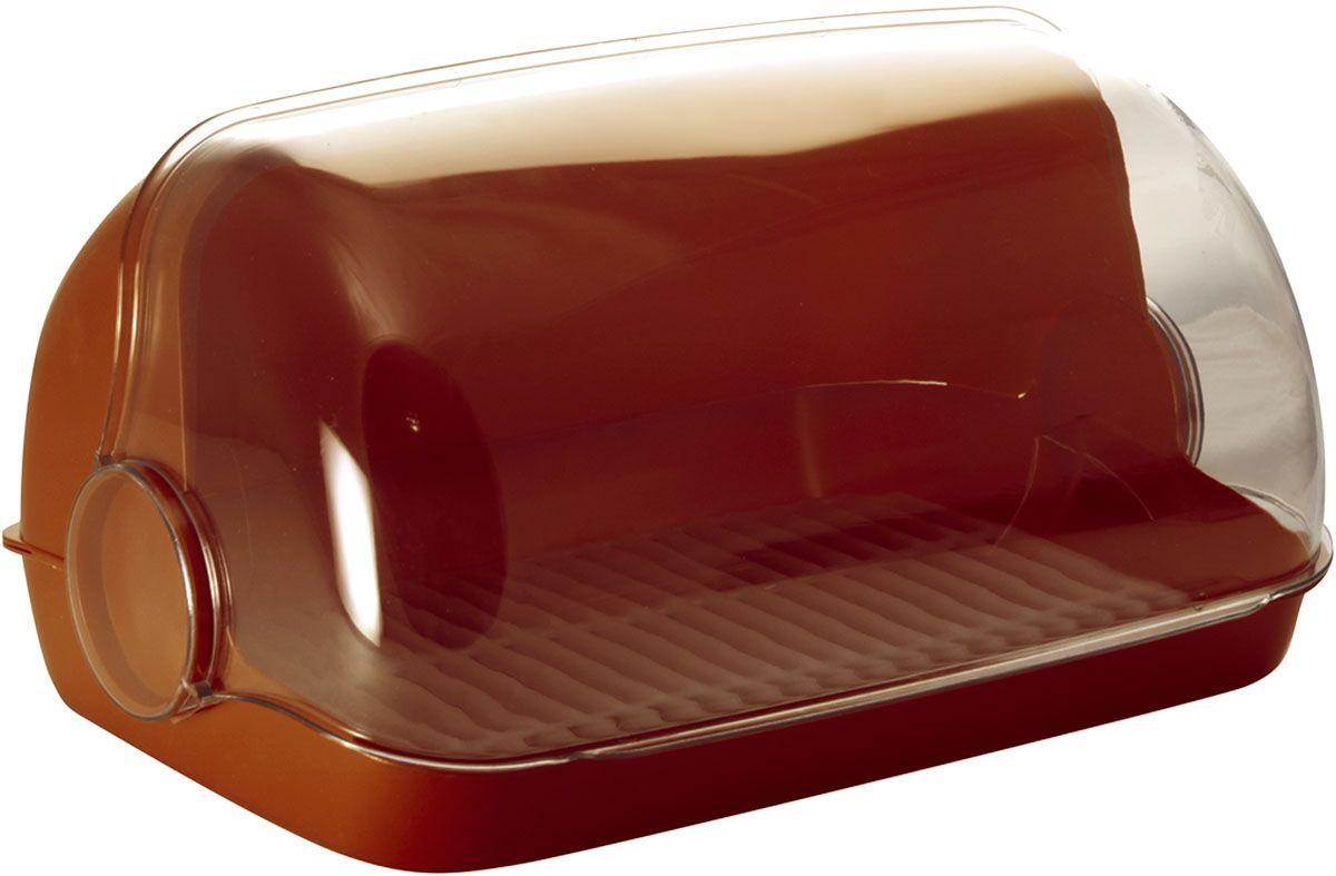 Хлебница Plastic Centre Пышка, цвет: коричневый, прозрачный, 41,5 х 26 х 18,5 смПЦ1673КЧУниверсальная форма хлебниц Пышка подойдет для любой кухни. Решетка внутри хлебницы поможет сохранить хлеб свежим долгое время.