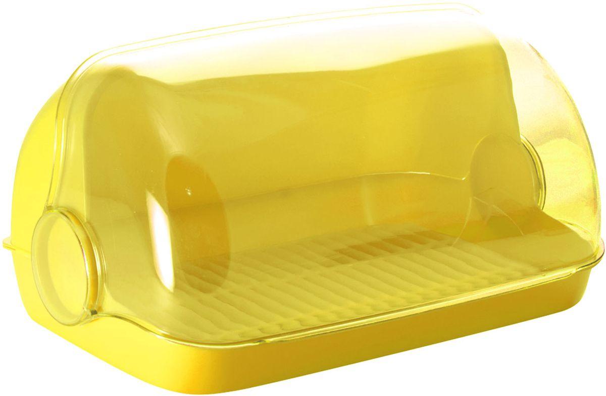 Хлебница Plastic Centre Пышка, цвет: желтый, прозрачный, 41,5 х 26 х 18,5 смПЦ1673ЛМНУниверсальная форма хлебниц Пышка подойдет для любой кухни. Решетка внутри хлебницы поможет сохранить хлеб свежим долгое время.