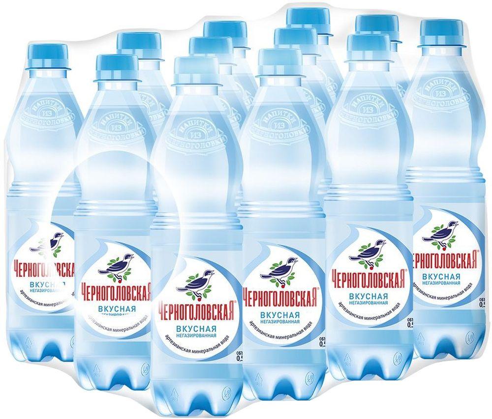 """""""Черноголовская"""" вкусная артезианская минеральная вода негазированная 12 шт по 0,5 л 010500-0028249"""