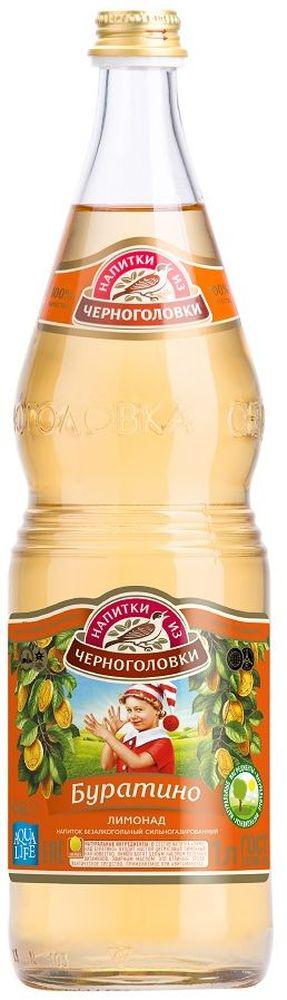 Лимонад Буратино напиток безалкогольный сильногазированный, 1 л