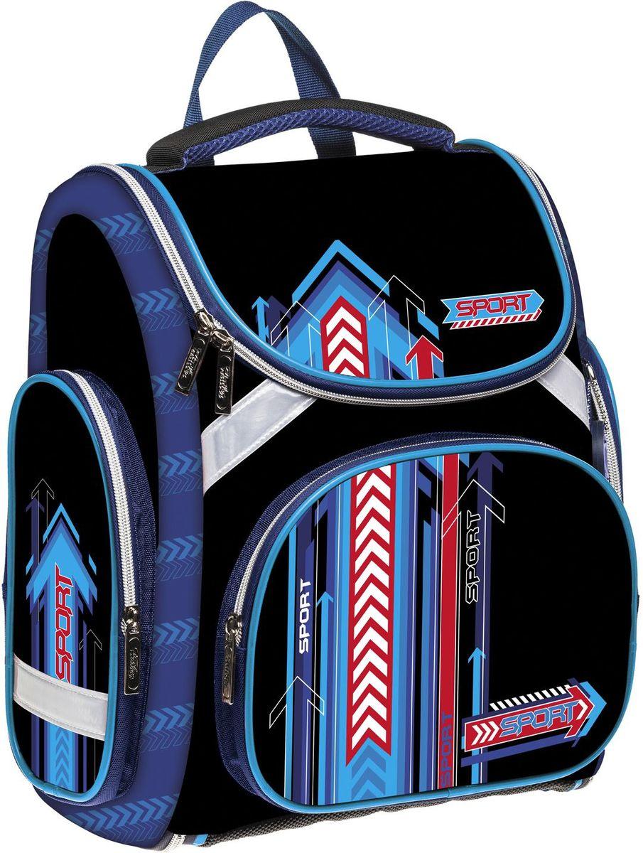 Hatber Рюкзак Compact Plus StartNRk_14027Серия Compact+ - это эргономичный ранец в комплекте с мешком для обуви, предназначенный для детей младшего школьного возраста. Особенностью данной модели является возможность ее раскрытия до плоского состояния, что делает хранение рюкзака максимально удобным и облегчает уход за ним. Отличается легкостью и долговечностью. Рельеф спинки ранца разработан с учетом особенностей детского позвоночника, предотвращает перенапряжение мышц спины. Дополнительный ремешок на поясе фиксирует ранец, препятствуя смещению центра тяжести. Конструкция лямок обеспечивает правильное распределение веса ранца. Дно ранца выполнено из водонепроницаемого материала и оснащено пластиковыми ножками.