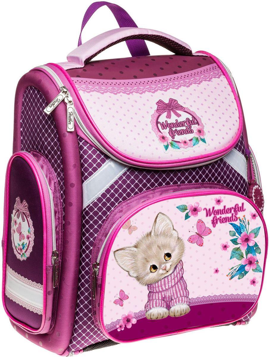 Hatber Рюкзак Compact Plus Нежное созданиеNRk_14044Серия Compact+ - это эргономичный ранец в комплекте с мешком для обуви, предназначенный для детей младшего школьного возраста. Особенностью данной модели является возможность ее раскрытия до плоского состояния, что делает хранение рюкзака максимально удобным и облегчает уход за ним. Отличается легкостью и долговечностью. Рельеф спинки ранца разработан с учетом особенностей детского позвоночника, предотвращает перенапряжение мышц спины. Дополнительный ремешок на поясе фиксирует ранец, препятствуя смещению центра тяжести. Конструкция лямок обеспечивает правильное распределение веса ранца. Дно ранца выполнено из водонепроницаемого материала и оснащено пластиковыми ножками.