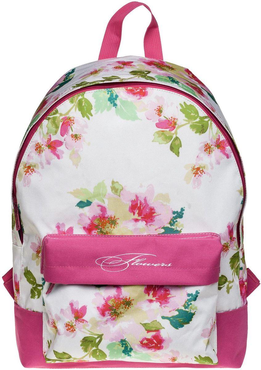 Hatber Рюкзак Basic FlowersNRk_19048Легкий повседневный молодежный рюкзак. Идеальное соотношение цена-качество. Модные дизайны на любой вкус. Вместительное отделение, внутри него карман для тетрадей. Передний карман на молнии. Уплотненные спинка, дно и лямки. Материал полиэстер. Размер 30 х 41 х 13 см