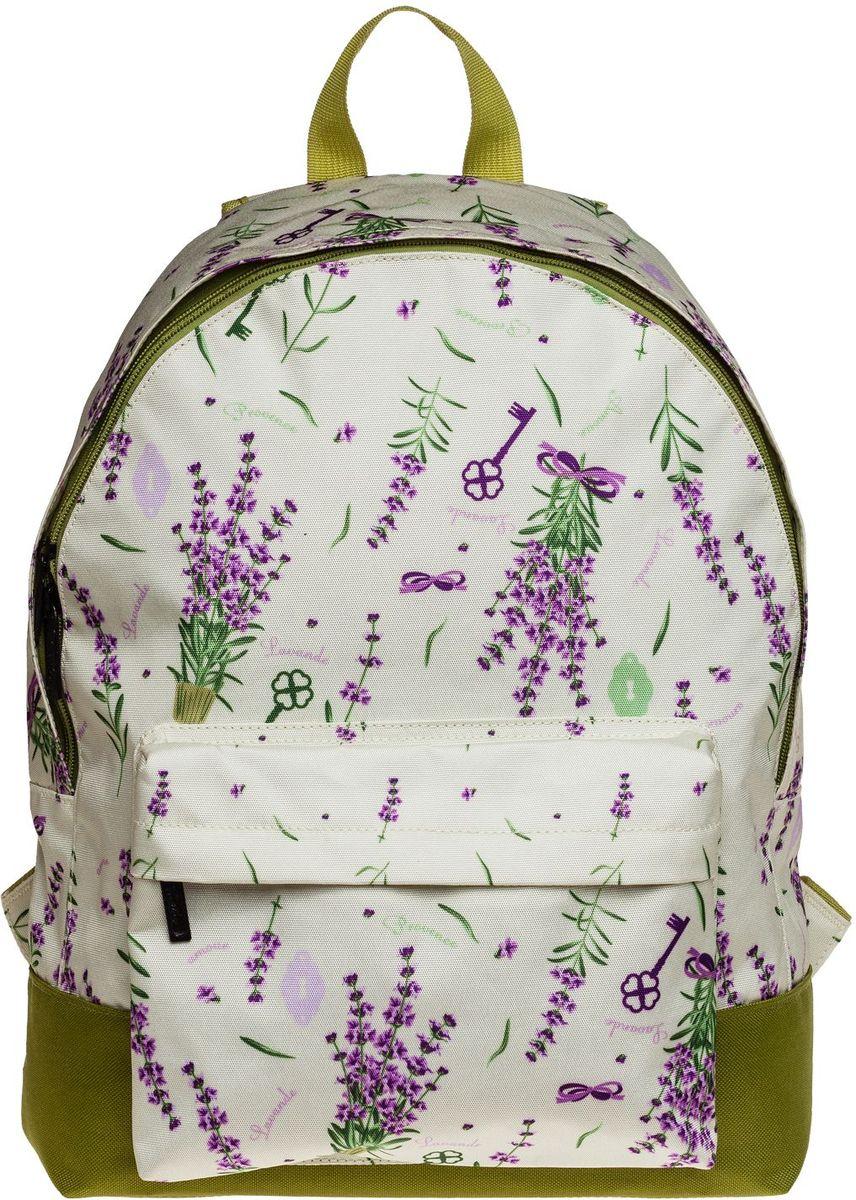 Hatber Рюкзак Basic ProvenceNRk_19050Легкий повседневный молодежный рюкзак. Идеальное соотношение цена-качество. Модные дизайны на любой вкус. Вместительное отделение, внутри него карман для тетрадей. Передний карман на молнии. Уплотненные спинка, дно и лямки. Материал полиэстер. Размер 30 х 41 х 13 см