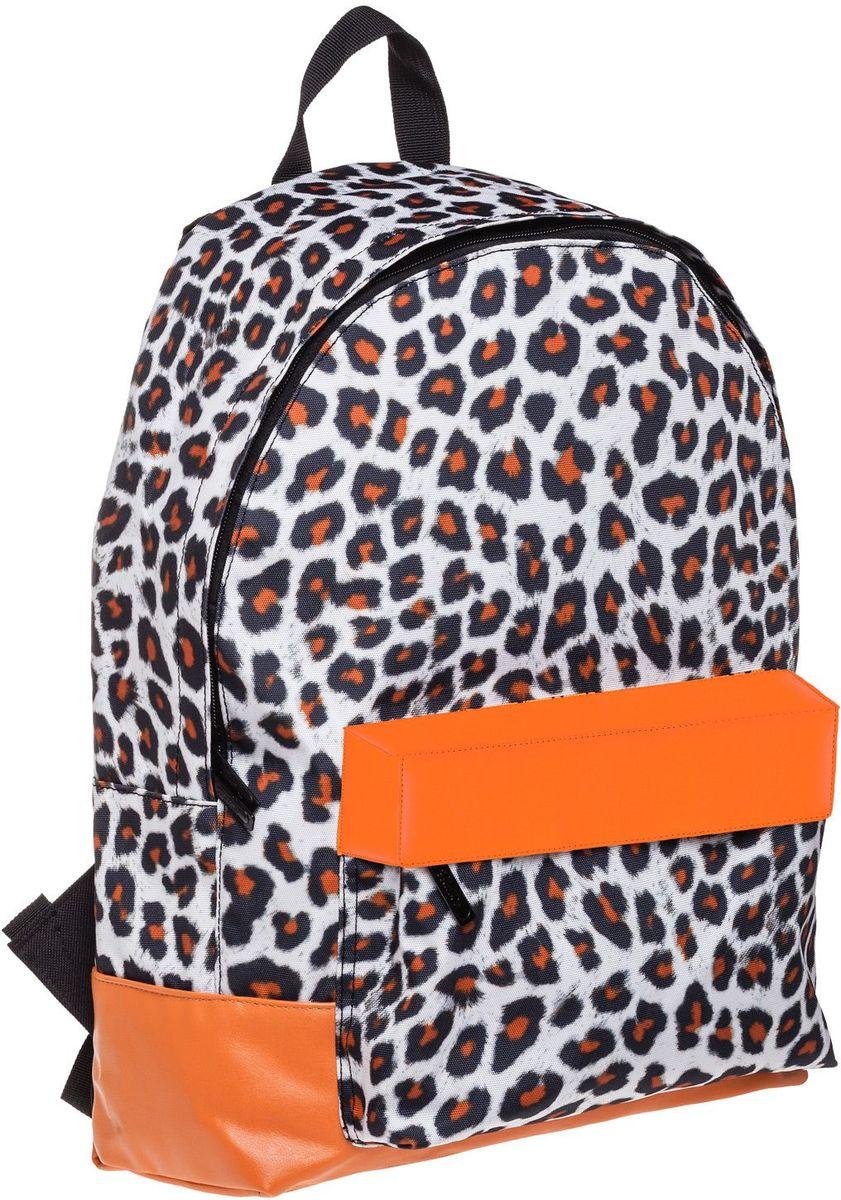 Hatber Рюкзак Basic Leopard StyleNRk_19052Легкий повседневный молодежный рюкзак. Идеальное соотношение цена-качество. Модные дизайны на любой вкус. Вместительное отделение, внутри него карман для тетрадей. Передний карман на молнии. Уплотненные спинка, дно и лямки. Материал полиэстер. Размер 30 х 41 х 13 см