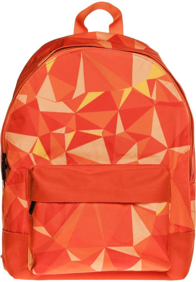 Hatber Рюкзак Basic PatternNRk_19075Легкий повседневный молодежный рюкзак. Идеальное соотношение цена-качество. Модные дизайны на любой вкус. Вместительное отделение, внутри него карман для тетрадей. Передний карман на молнии. Уплотненные спинка, дно и лямки. Материал полиэстер. Размер 30 х 41 х 13 см