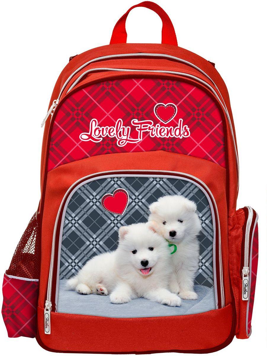 Hatber Рюкзак Soft Lovely friendsNRk_16057Серия Soft - это облегченный рюкзак из прочного полиэстера для детей младшего и среднего школьного возраста. Имеет 2 отделения, большой передний карман на молнии и 2 боковы х кармана. Размер 41 х 29 х 14 см.