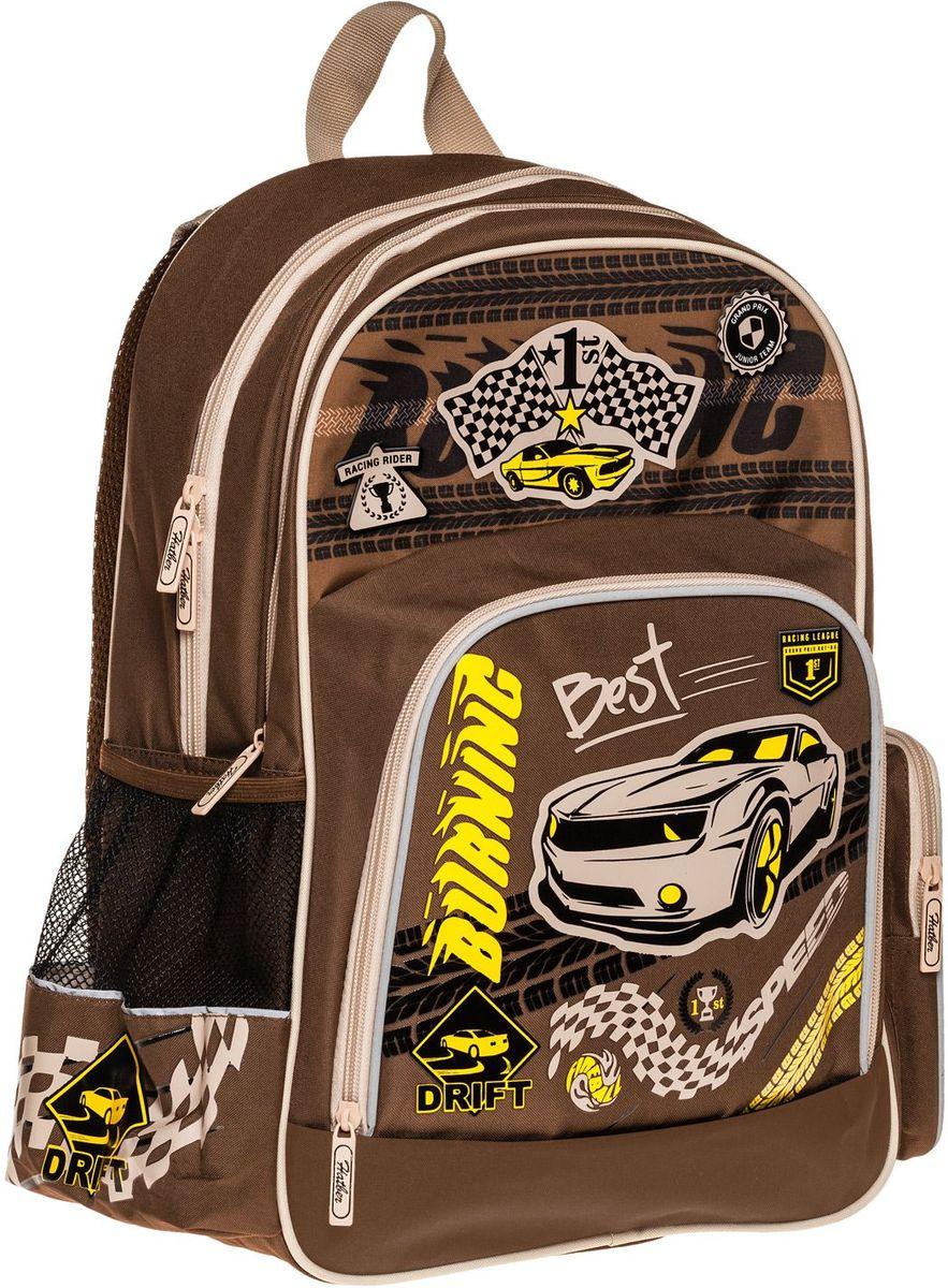 Hatber Рюкзак Soft Racing leagueNRk_16064Серия Soft - это облегченный рюкзак из прочного полиэстера для детей младшего и среднего школьного возраста. Имеет 2 отделения, большой передний карман на молнии и 2 боковы х кармана. Размер 41 х 29 х 14 см.