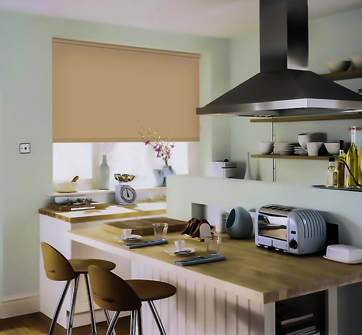 Штора рулонная Эскар, цвет: темно-бежевый, ширина 80 см, высота 170 см81209080170Рулонными шторами можно оформлять окна как самостоятельно, так и использовать в комбинации с портьерами. Это поможет предотвратить выгорание дорогой ткани на солнце и соединит функционал рулонных с красотой навесных. Преимущества применения рулонных штор для пластиковых окон: - имеют прекрасный внешний вид: многообразие и фактурность материала изделия отлично смотрятся в любом интерьере; - многофункциональны: есть возможность подобрать шторы способные эффективно защитить комнату от солнца, при этом она не будет слишком темной. - Есть возможность осуществить быстрый монтаж. ВНИМАНИЕ! Размеры ширины изделия указаны по ширине ткани! Во время эксплуатации не рекомендуется полностью разматывать рулон, чтобы не оторвать ткань от намоточного вала. В случае загрязнения поверхности ткани, чистку шторы проводят одним из способов, в зависимости от типа загрязнения: легкое поверхностное загрязнение можно удалить при помощи канцелярского ластика; чистка от пыли производится сухим методом при...