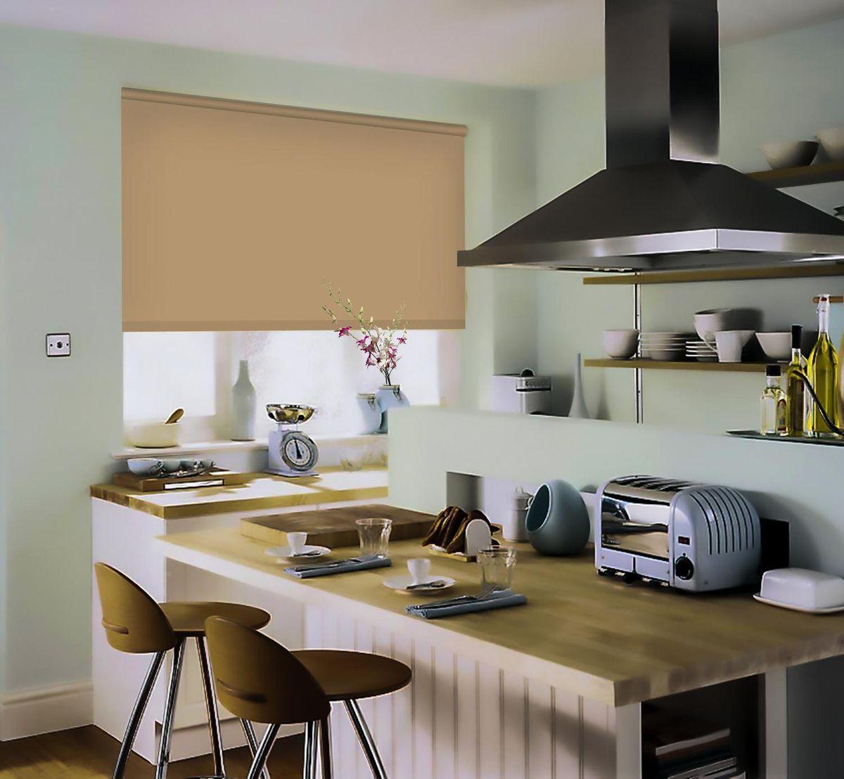 Штора рулонная Эскар, цвет: темно-бежевый, ширина 172 см, высота 170 см81209172170Рулонными шторами можно оформлять окна как самостоятельно, так и использовать в комбинации с портьерами. Это поможет предотвратить выгорание дорогой ткани на солнце и соединит функционал рулонных с красотой навесных. Преимущества применения рулонных штор для пластиковых окон: - имеют прекрасный внешний вид: многообразие и фактурность материала изделия отлично смотрятся в любом интерьере; - многофункциональны: есть возможность подобрать шторы способные эффективно защитить комнату от солнца, при этом она не будет слишком темной. - Есть возможность осуществить быстрый монтаж. ВНИМАНИЕ! Размеры ширины изделия указаны по ширине ткани! Во время эксплуатации не рекомендуется полностью разматывать рулон, чтобы не оторвать ткань от намоточного вала. В случае загрязнения поверхности ткани, чистку шторы проводят одним из способов, в зависимости от типа загрязнения: легкое поверхностное загрязнение можно удалить при помощи канцелярского ластика; чистка от пыли производится сухим методом при...