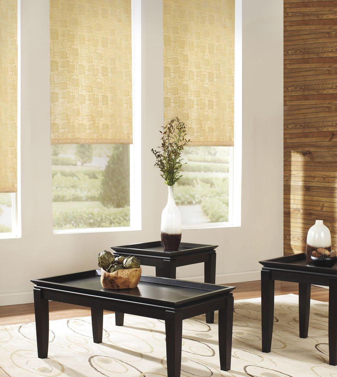 Штора рулонная Эскар Эдем, цвет: золотистый, ширина 172 см, высота 160 см87212172160Рулонными шторами можно оформлять окна как самостоятельно, так и использовать в комбинации с портьерами. Это поможет предотвратить выгорание дорогой ткани на солнце и соединит функционал рулонных с красотой навесных. Преимущества применения рулонных штор для пластиковых окон: - имеют прекрасный внешний вид: многообразие и фактурность материала изделия отлично смотрятся в любом интерьере; - многофункциональны: есть возможность подобрать шторы способные эффективно защитить комнату от солнца, при этом она не будет слишком темной. - Есть возможность осуществить быстрый монтаж. ВНИМАНИЕ! Размеры ширины изделия указаны по ширине ткани! Во время эксплуатации не рекомендуется полностью разматывать рулон, чтобы не оторвать ткань от намоточного вала. В случае загрязнения поверхности ткани, чистку шторы проводят одним из способов, в зависимости от типа загрязнения: легкое поверхностное загрязнение можно удалить при помощи канцелярского ластика; чистка от пыли производится сухим методом при...