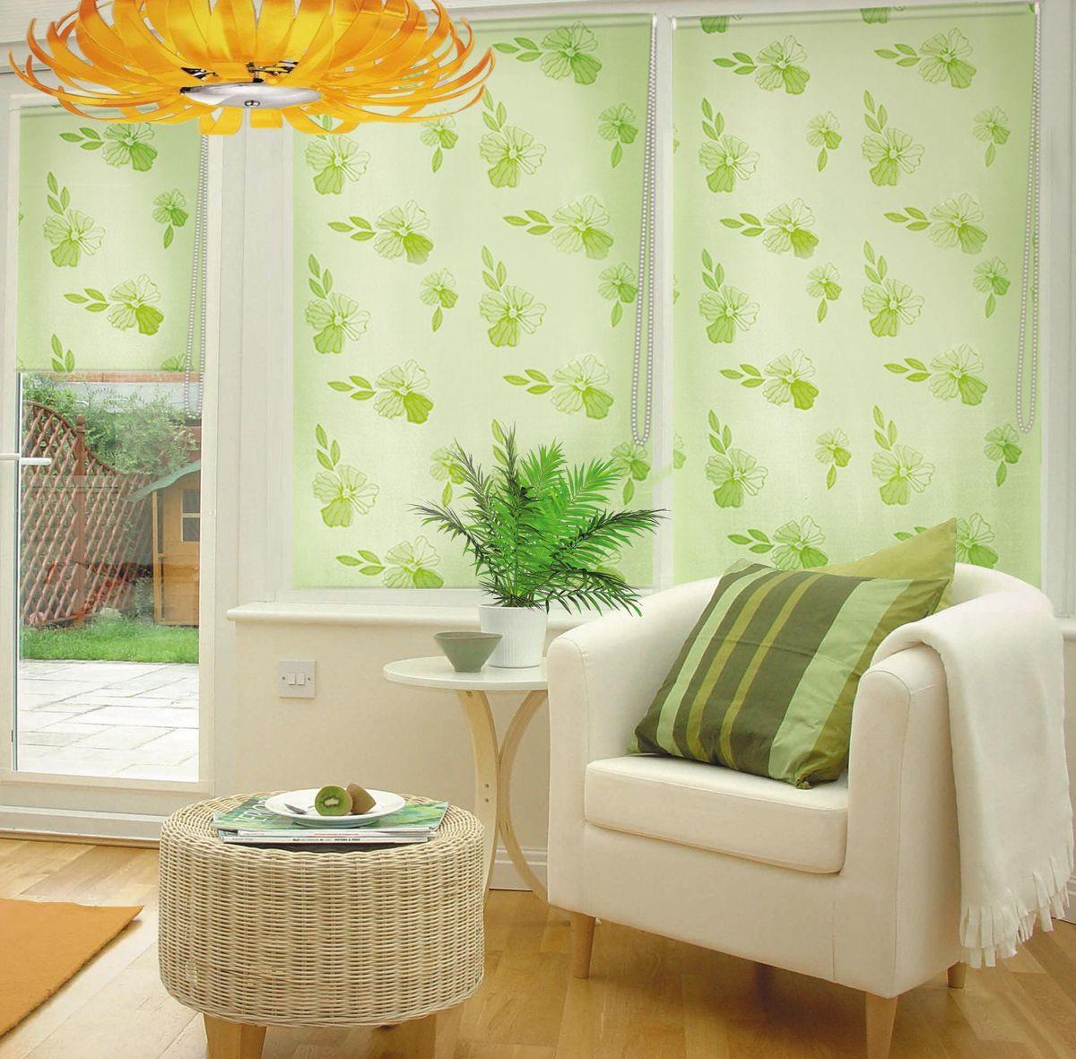 Штора рулонная Эскар Эдельвейс, цвет: зеленый, ширина 80 см, высота 160 см88004080160Рулонными шторами можно оформлять окна как самостоятельно, так и использовать в комбинации с портьерами. Это поможет предотвратить выгорание дорогой ткани на солнце и соединит функционал рулонных с красотой навесных. Преимущества применения рулонных штор для пластиковых окон: - имеют прекрасный внешний вид: многообразие и фактурность материала изделия отлично смотрятся в любом интерьере; - многофункциональны: есть возможность подобрать шторы способные эффективно защитить комнату от солнца, при этом она не будет слишком темной. - Есть возможность осуществить быстрый монтаж. ВНИМАНИЕ! Размеры ширины изделия указаны по ширине ткани! Во время эксплуатации не рекомендуется полностью разматывать рулон, чтобы не оторвать ткань от намоточного вала. В случае загрязнения поверхности ткани, чистку шторы проводят одним из способов, в зависимости от типа загрязнения: легкое поверхностное загрязнение можно удалить при помощи канцелярского ластика; чистка от пыли производится сухим методом при...