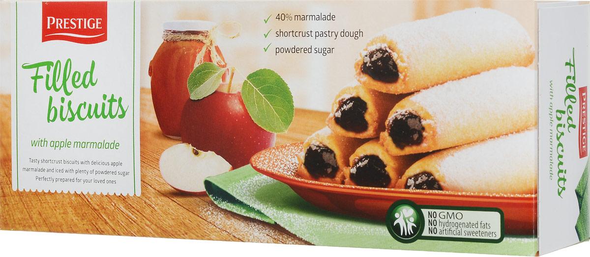 Prestige Бисквитное печенье с яблочной начинкой, 170 г3.58.12Бисквитное печенье Prestige с начинкой из яблок подарит массу удовольствия, зарядит энергией и бодростью с утра и на целый день. Уважаемые клиенты! Обращаем ваше внимание, что полный перечень состава продукта представлен на дополнительном изображении.