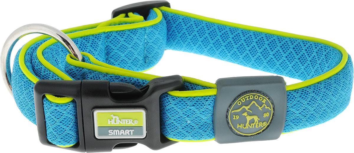 Ошейник для собак Hunter Smart Maui M, цвет: голубой, 36-55 см92693Ошейник для собак Hunter Maui выполнен из невероятно мягкого и легкого сетчатого текстиля. Регулируется по размеру в широком диапазоне. Застегивается на пластиковый карабин, имеет металлическое кольцо для поводка. Обхват шеи: 36-55 см. Ширина ошейника: 2,5 см.