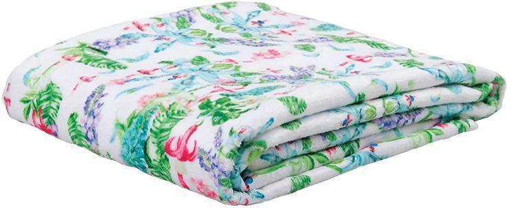 Полотенце банное Mona Liza Jade, цвет: белый, 50 х 90 см529682Махровые полотенца с велюром созданы в дополнение к постельному белью из коллекции Mona Liza Secret Gardens by Serg Look. Принты полотенец идентичны принтам комплектов постельного белья. (состав: 70% хлопок, 30% велюр (п/э)