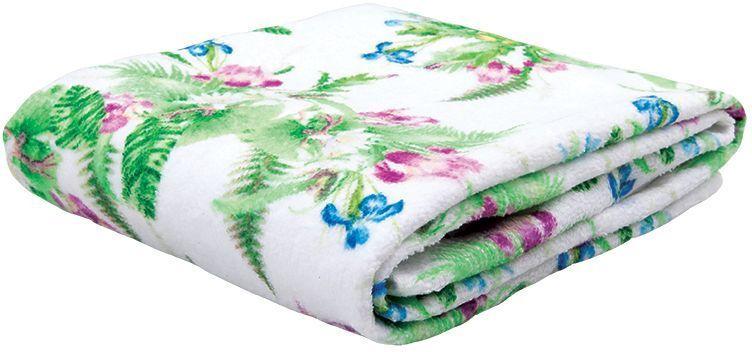 Полотенце банное Mona Liza Iris, цвет: белый, 70 х 140 см529683/1Махровые полотенца с велюром созданы в дополнение к постельному белью из коллекции Mona Liza Secret Gardens by Serg Look. Принты полотенец идентичны принтам комплектов постельного белья.