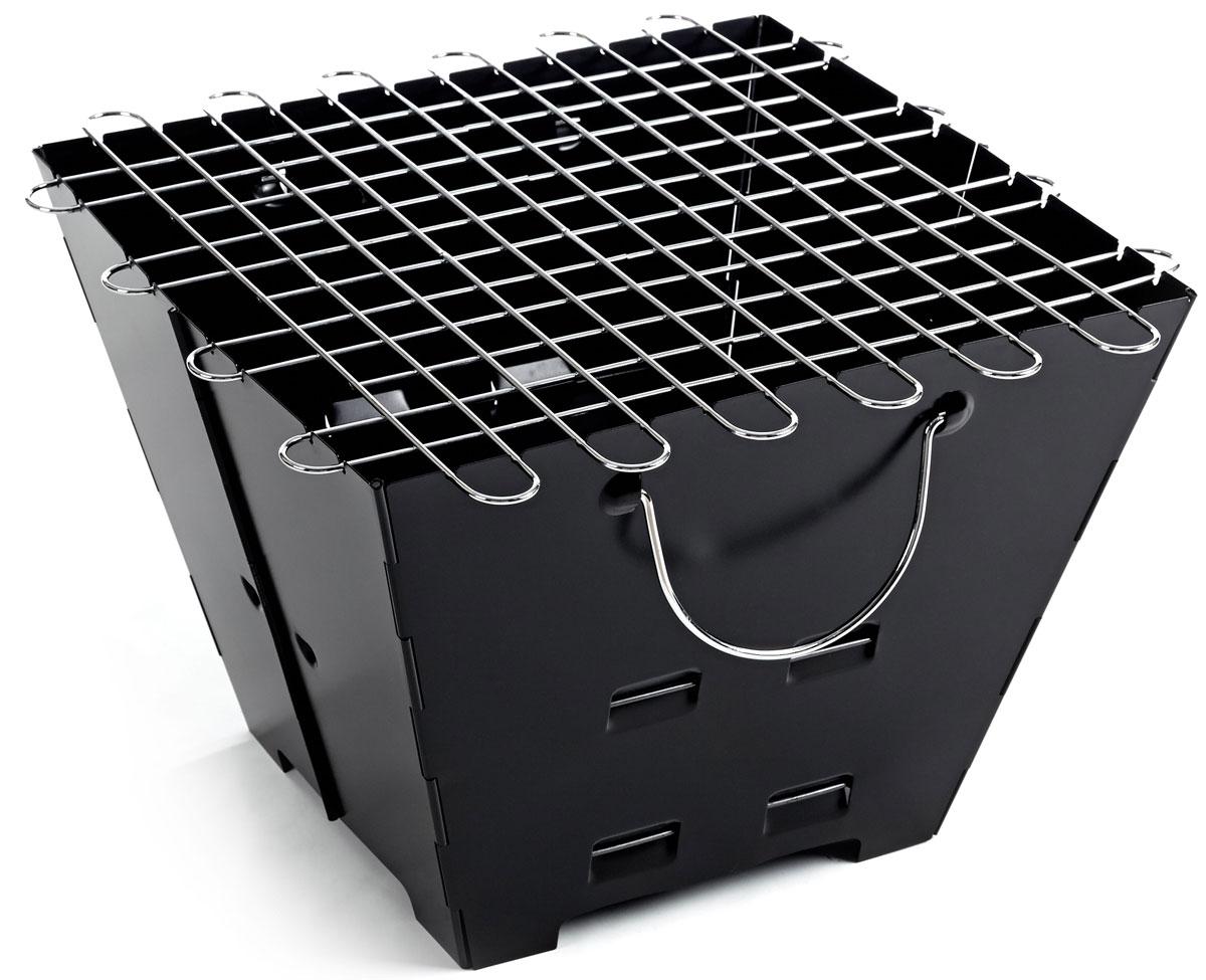 Гриль портативный Higashi, складной. A501А501Компактный, лёгкий складной гриль - для тех кто не любит манаглы и шампура! Готовим мясо и овощи на решётке из нержавеющей стали. Толщина в сложенном виде всего 3 см! Толщина стенок: 0.8 мм. Материал: лист стальной холоднокатанный. Сумка для переноски в комплекте. Благодаря своей компактности, не большому весу и наличию сумки, удобно не только перевозить с собой в багажнике автомобиля, но и брать с собой в небольшие пешие вылазки.