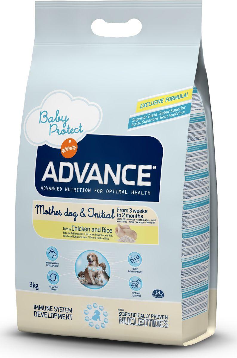 Корму сухой Advance для щенков от 3 недель до 2 месяцев Baby Protect Initial, 3 кг. 50031013042Advance – высококачественный корм супер-премиум класса Испанской компании Affinity Petcare, которая занимает лидирующие места на Европейском и мировом рынках. Корм разработан с учетом всех особенностей развития и жизнедеятельности собак и кошек. В линейке кормов Advance любой хозяин может подобрать необходимое питание в соответствии с возрастом и уникальными особенностями своего животного, а также в случае назначения специалистами ветеринарной диеты. Курица (21%), дегидрированный животный белок, рис (17%), мука из маиса, животный жир, маис, гидролизированный белок животного происхождения, свекольный жом, дрожжи, рыбий жир, кокосовое масло, плазменный протеин, казеинат, хлористый калий, инулин, соль, нуклеотиды. Affinity Petcare имеет собственную лабораторию, а также сотрудничает со множеством международных исследовательских центров, благодаря чему специалисты постоянно совершенствуют рецептуру и полезные свойства своих кормов. В составе главным источником белка является СВЕЖЕЕ мясо,...