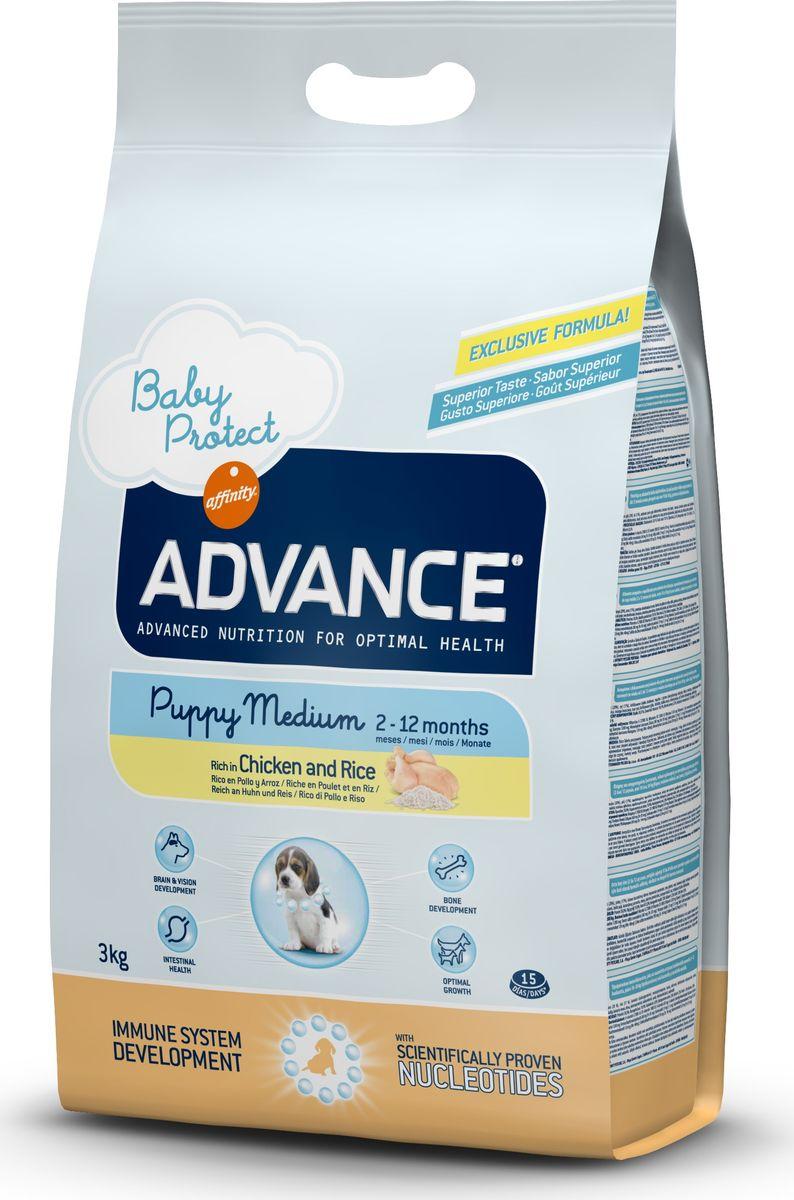Корму сухой Advance для щенков средних пород от 2 до 12 месяцев Baby Protect Medium, 3 кг. 50731913053Advance – высококачественный корм супер-премиум класса Испанской компании Affinity Petcare, которая занимает лидирующие места на Европейском и мировом рынках. Корм разработан с учетом всех особенностей развития и жизнедеятельности собак и кошек. В линейке кормов Advance любой хозяин может подобрать необходимое питание в соответствии с возрастом и уникальными особенностями своего животного, а также в случае назначения специалистами ветеринарной диеты. Курица (20%), рис (17%), дегидрированное мясо курицы, мука из маиса, маис, животный жир, гидролизированный белок животного происхождения, пшеница, свекольный жом, рыбий жир,яичный порошок, дрожжи, плазменный протеин, хлористый калий, соль, трикальцийфосфат, нуклеотиды Affinity Petcare имеет собственную лабораторию, а также сотрудничает со множеством международных исследовательских центров, благодаря чему специалисты постоянно совершенствуют рецептуру и полезные свойства своих кормов. В составе главным источником белка является СВЕЖЕЕ...