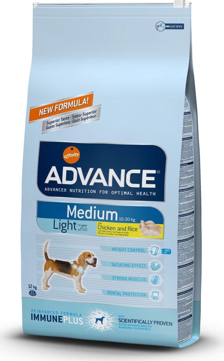 Корму сухой Advance Контроль веса для собак средних пород Medium Light, 12 кг. 50055013060Advance – высококачественный корм супер-премиум класса Испанской компании Affinity Petcare, которая занимает лидирующие места на Европейском и мировом рынках. Корм разработан с учетом всех особенностей развития и жизнедеятельности собак и кошек. В линейке кормов Advance любой хозяин может подобрать необходимое питание в соответствии с возрастом и уникальными особенностями своего животного, а также в случае назначения специалистами ветеринарной диеты. Курица (15%), пшеница, рис (12%), маис, дегидрированное мясо курицы, кукурузный глютен, мука из пшеницы, гидролизированный белок животного происхождения,дегидрированный белок свинины, свекольный жом, кукурузные отруби, животный жир, дрожжи,растительные волокна, рыбий жир, хлористый калий, плазменный протеин,карбонат кальция, пирофосфорнокислый натрий, соль, природные полифенолы. Affinity Petcare имеет собственную лабораторию, а также сотрудничает со множеством международных исследовательских центров, благодаря чему специалисты постоянно...