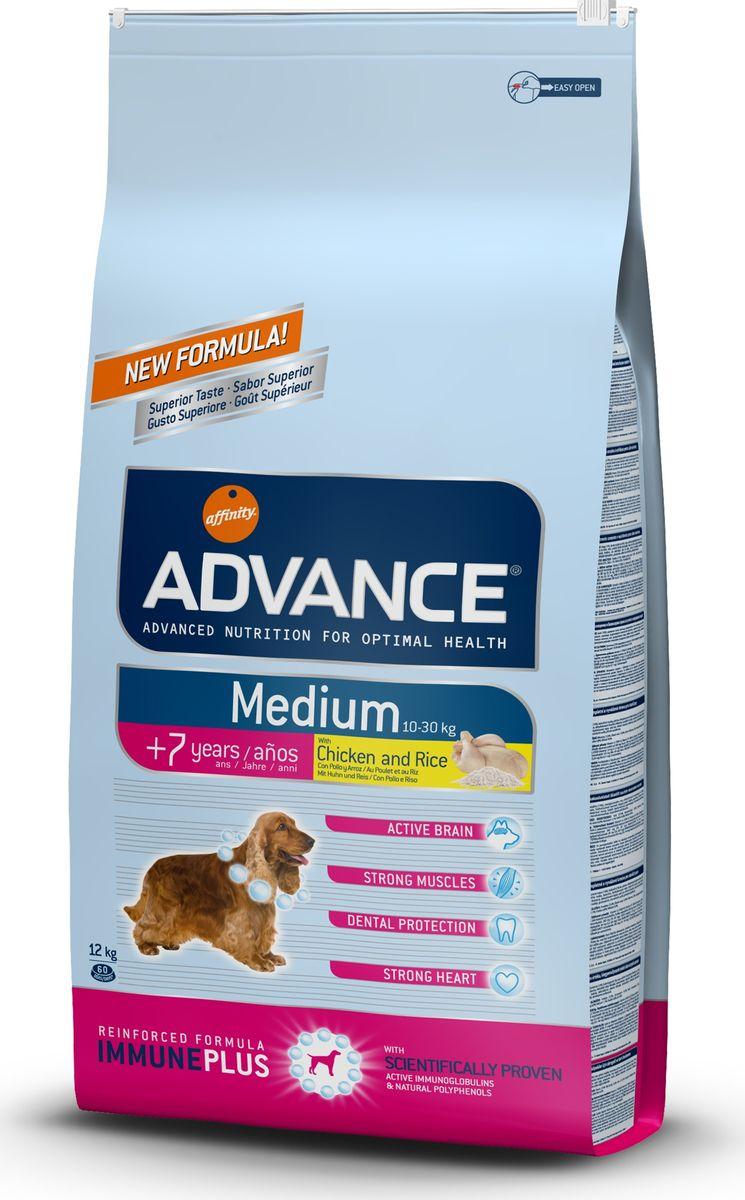 Корму сухой Advance для собак средних пород старше 7 лет Medium Senior, 12 кг. 50055213062Advance – высококачественный корм супер-премиум класса Испанской компании Affinity Petcare, которая занимает лидирующие места на Европейском и мировом рынках. Корм разработан с учетом всех особенностей развития и жизнедеятельности собак и кошек. В линейке кормов Advance любой хозяин может подобрать необходимое питание в соответствии с возрастом и уникальными особенностями своего животного, а также в случае назначения специалистами ветеринарной диеты. Курица (14%), мука из маиса, пшеница, дегидрированное мясо курицы, рис (10%), мука из пшеницы, маис, гидролизированный белок животного происхождения,кукурузные отруби, свекольный жом, животный жир, дрожжи,яичный порошок, рыбий жир, хлористый калий, плазменный протеин, пирофосфорнокислый натрий, глюкозамин, хондроитинсульфат, природные полифенолы. Affinity Petcare имеет собственную лабораторию, а также сотрудничает со множеством международных исследовательских центров, благодаря чему специалисты постоянно совершенствуют рецептуру и...