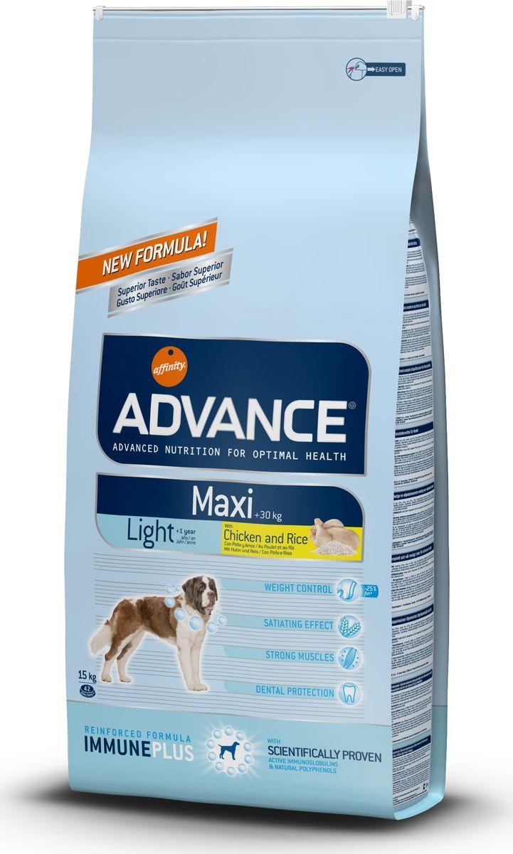 Корму сухой Advance Контроль веса для взрослых собак крупных пород Maxi Light, 15 кг. 55951113069Advance – высококачественный корм супер-премиум класса Испанской компании Affinity Petcare, которая занимает лидирующие места на Европейском и мировом рынках. Корм разработан с учетом всех особенностей развития и жизнедеятельности собак и кошек. В линейке кормов Advance любой хозяин может подобрать необходимое питание в соответствии с возрастом и уникальными особенностями своего животного, а также в случае назначения специалистами ветеринарной диеты. Курица (15%), пшеница, рис (12%), маис, дегидрированное мясо курицы, маисовый глютен, гидролизированный белок животного происхождения, кукурузные отруби, свекольный жом, дегидрированный белок свинины, животный жир, дрожжи, рыбий жир,карбонат кальция, хлористый калий, плазменный протеинs, растительные волокна, пирофосфорнокислый натрий, трикальцийфосфат, глюкозамин, хондроитинсульфат, природные полифенолы Affinity Petcare имеет собственную лабораторию, а также сотрудничает со множеством международных исследовательских центров, благодаря...