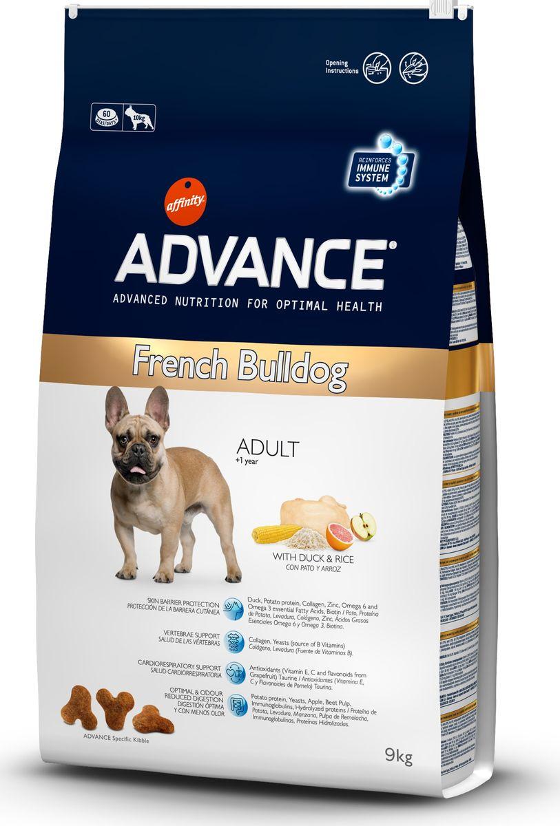 Корму сухой Advance для французских бульдогов French Bulldog, 9 кг. 50074913075Advance – высококачественный корм супер-премиум класса Испанской компании Affinity Petcare, которая занимает лидирующие места на Европейском и мировом рынках. Корм разработан с учетом всех особенностей развития и жизнедеятельности собак и кошек. В линейке кормов Advance любой хозяин может подобрать необходимое питание в соответствии с возрастом и уникальными особенностями своего животного, а также в случае назначения специалистами ветеринарной диеты. Affinity Petcare имеет собственную лабораторию, а также сотрудничает со множеством международных исследовательских центров, благодаря чему специалисты постоянно совершенствуют рецептуру и полезные свойства своих кормов. В составе главным источником белка является СВЕЖЕЕ мясо, благодаря которому корм обладает высокими вкусовыми качествами, а также высокой питательной ценностью.