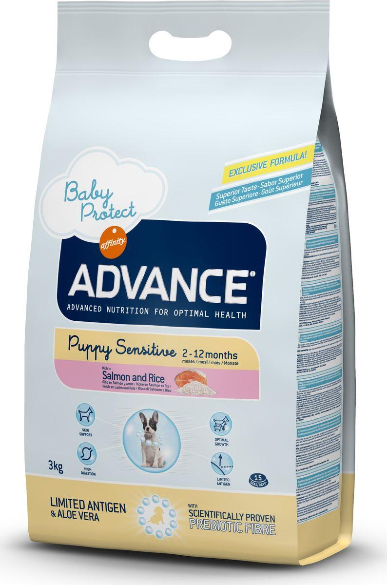 Корму сухой Advance для щенков с чувствительным пищеварением: лосось и рис Puppy Sensitive, 3 кг. 50093413079Advance – высококачественный корм супер-премиум класса Испанской компании Affinity Petcare, которая занимает лидирующие места на Европейском и мировом рынках. Корм разработан с учетом всех особенностей развития и жизнедеятельности собак и кошек. В линейке кормов Advance любой хозяин может подобрать необходимое питание в соответствии с возрастом и уникальными особенностями своего животного, а также в случае назначения специалистами ветеринарной диеты. Лосось (18%), маис, рис (14%), дегидрированный белок лосося,маисовый глютен, животный жир, гидролизированный белок животного происхождения, картофельный протеин, дрожжи, гидролизированный коллаген, свекольный жом, растительные волокна, хлористый калий,фруктоолигосахариды (0.43%), рыбий жир, карбонат кальция, соль, алоэ вера (0.005%) Affinity Petcare имеет собственную лабораторию, а также сотрудничает со множеством международных исследовательских центров, благодаря чему специалисты постоянно совершенствуют рецептуру и полезные свойства...