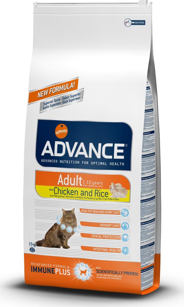 Корму сухой Advance для взрослых кошек: курица и рис Adult C&R, 15 кг. 57351120717Advance – высококачественный корм супер-премиум класса Испанской компании Affinity Petcare, которая занимает лидирующие места на Европейском и мировом рынках. Корм разработан с учетом всех особенностей развития и жизнедеятельности собак и кошек. В линейке кормов Advance любой хозяин может подобрать необходимое питание в соответствии с возрастом и уникальными особенностями своего животного, а также в случае назначения специалистами ветеринарной диеты. Курица (21%), маис, дегидрированное мясо курицы,маисовый глютен, рис (8%), животный жир, гидролизированный белок животного происхождения, дегидрированный белок свинины, гидролизированный белок рыбы,яичный порошок, дрожжи, рыбий жир, хлористый калий, плазменный протеин, соль, природные полифенолы. Affinity Petcare имеет собственную лабораторию, а также сотрудничает со множеством международных исследовательских центров, благодаря чему специалисты постоянно совершенствуют рецептуру и полезные свойства своих кормов. В составе главным...