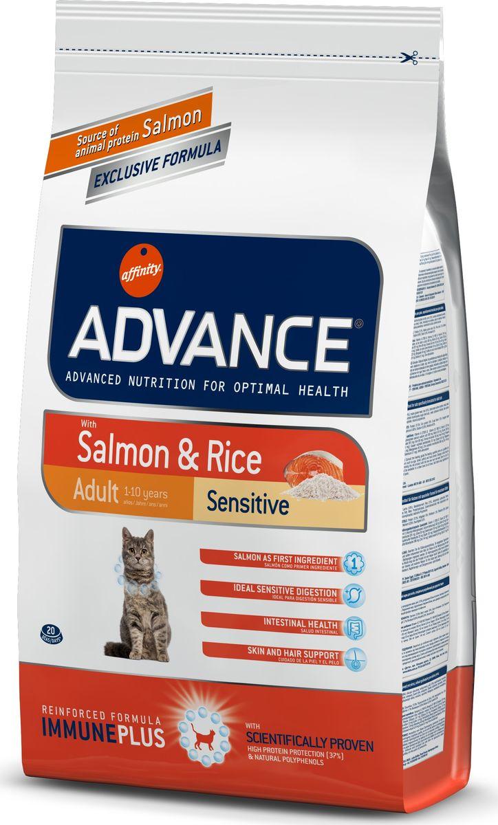 Корму сухой Advance для кошек с чувствительным пищеварением: лосось и рис Adult Salmon Sensitive, 1,5 кг. 92207220719Advance – высококачественный корм супер-премиум класса Испанской компании Affinity Petcare, которая занимает лидирующие места на Европейском и мировом рынках. Корм разработан с учетом всех особенностей развития и жизнедеятельности собак и кошек. В линейке кормов Advance любой хозяин может подобрать необходимое питание в соответствии с возрастом и уникальными особенностями своего животного, а также в случае назначения специалистами ветеринарной диеты. Лосось (18%), мука из маиса, рис (15%), дегидрированный белок лосося, пшеница, пшеничный протеин, животный жир, маис, гидролизированный белок, свекольный жом, дрожжи, хлористый калий, инулин, плазменный протеин, монокальцийфосфат, природные полифенолы. Affinity Petcare имеет собственную лабораторию, а также сотрудничает со множеством международных исследовательских центров, благодаря чему специалисты постоянно совершенствуют рецептуру и полезные свойства своих кормов. В составе главным источником белка является СВЕЖЕЕ мясо, благодаря...