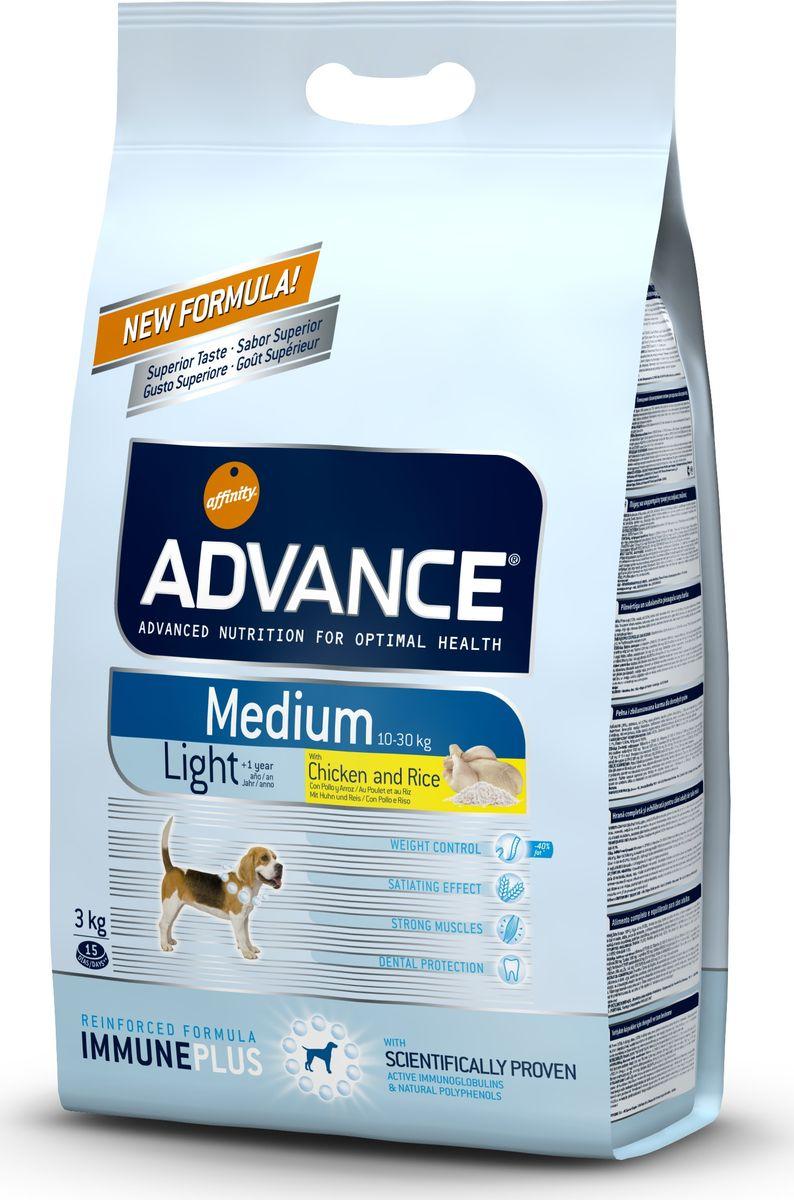 """Корму сухой Advance Контроль веса для собак средних пород """"Medium Light"""", 3 кг. 509319 46479"""