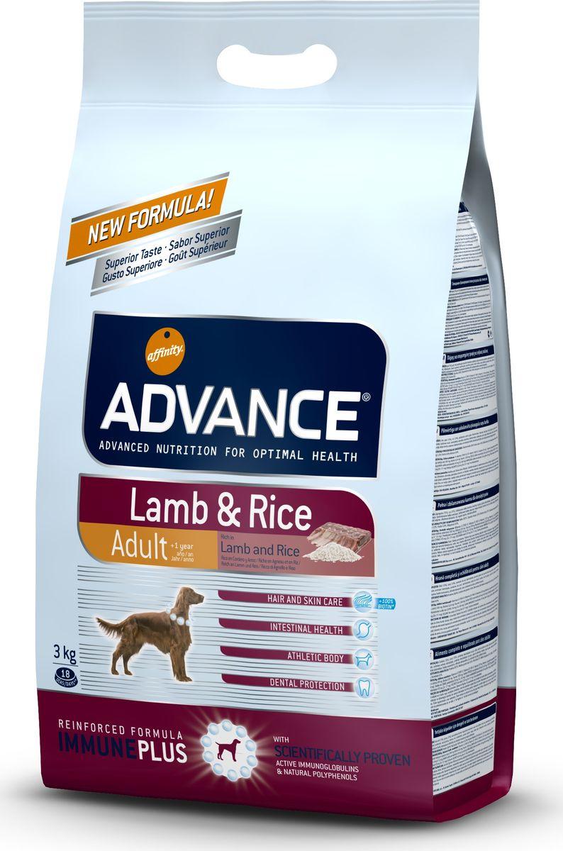 "Корму сухой Advance для собак с ягненком и рисом ""Lamb&Rice"", 3 кг. 525319 46482"