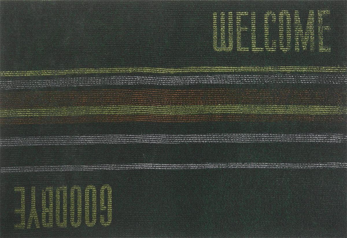 """EFCO (Egyptian fibers company) Коврик придверный EFCO """"Нью Эден"""", цвет: темно-зеленый, черный, коричневый, 68 х 45 см 18420_темно-зеленый,"""