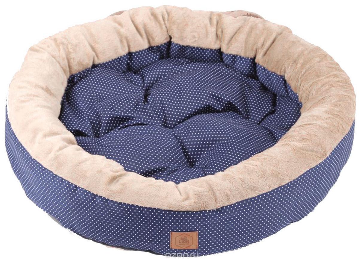 Лежанка для собак Lion Manufactory Моник, цвет: синий, размер L, 60 х 60 х 15 смLM4763-001Премиальная серия лежанок, впишется в любой интерьер. Выполнена из натурального хлопка и плюшевого меха. Размер лежанки: 600х600х150 мм. Размер спального места: 580х580 мм.
