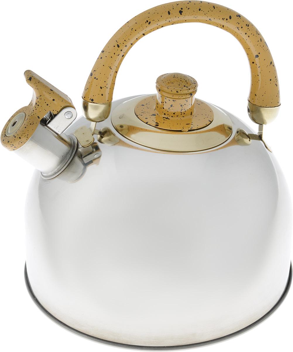 """Чайник """"Mayer & Boch"""", цвет: стальной, бордовый, золотой, 4 л. 1046A"""