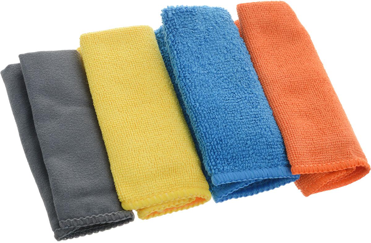 Набор салфеток из микрофибры Airline Рулончики, 20 х 20 см, 4 штAB-V-02Набор Airline состоит из четырех салфеток, выполненных из микрофибры. Мягкий ворс микрофибры очистит поверхность от пыли и загрязнений, микробов и грибком, и не отставит царапин. Материал хорошо впитывает жидкость, быстро сохнет и не подвержен быстрому износу после многочисленных стирок.