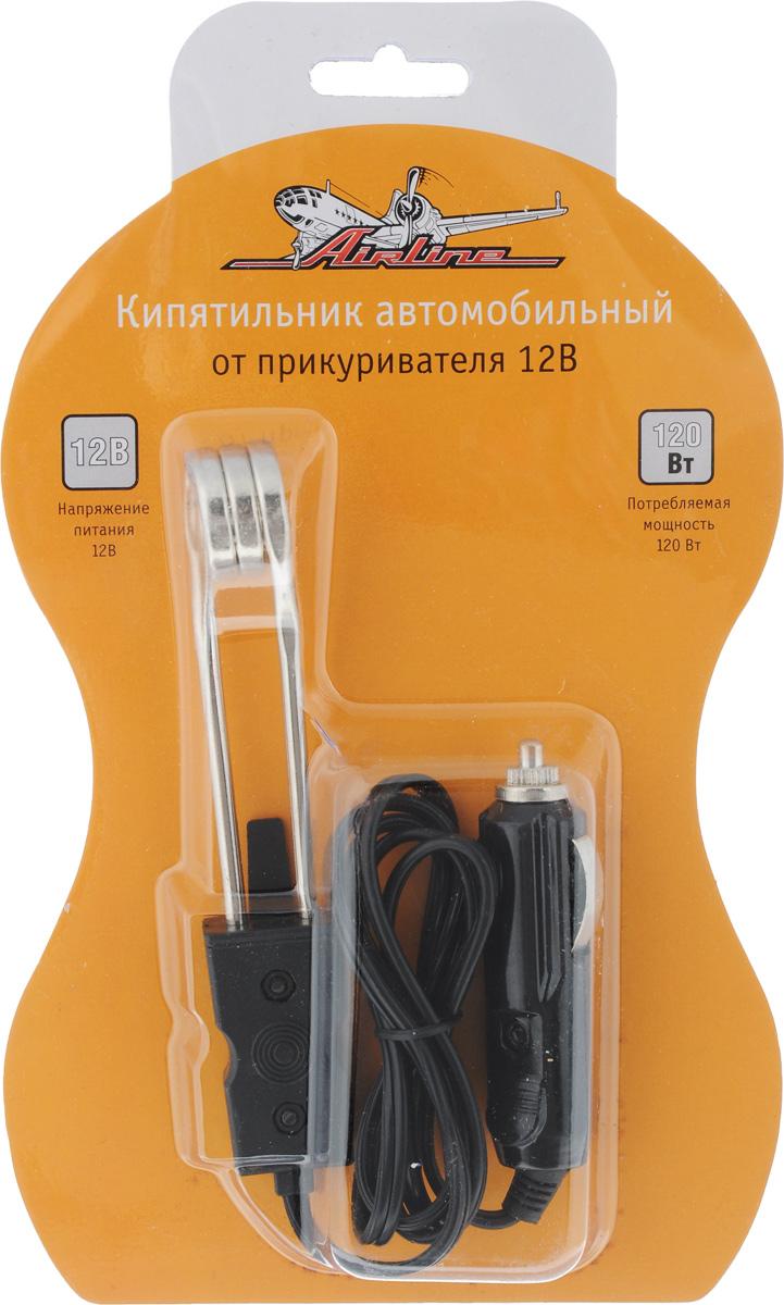 Кипятильник автомобильный Airline, от прикуривателя, 12ВABW-12-01Автомобильный кипятильник Airline устанавливается в разъем прикуривателя и функционирует за счет питания напряжением 12В. Корпус кипятильника изготовлен из пластика. Мощность кипятильника составляет 120 Вт. Устройство поможет произвести нагрев жидкости в салоне автомобиля за короткий период времени. Длина провода равна 80 см